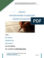 Renata Świgońska - Zasady Wykonywania Tłumaczeń Uwierzytelnionych