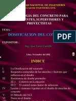 DOSIFICACION DISEÑO DE MEZCLAS DE CONCRETO HORMIGON