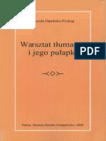 Dąmbska-Prokop - Warsztat Tłumacza i Jego Pułapki