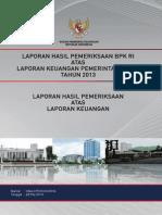 Lkpp_2013_laporan Atas Hasil Pemeriksaan Laporan Keuangan