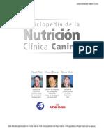 Estado Nutricional Del Perro Con Cáncer, Evaluación y Recomendaciones Dietéticas