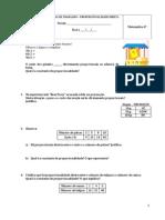 Ficha de Trabalho - Proporcionalidade Direta
