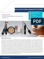 Compliance with the European Cosmetics Products Regulation (EC) 1223/2009