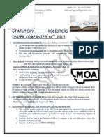 Registers Under CA 2013 Series 12