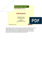 Calf Starter Nutrition and Management