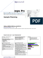 Small Steps Project Sample Planning for Booklet