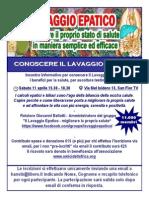 Locandina convegno Lavaggio Epatico San Fior TV