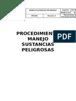PROCEDIMIENTO SUSTANCIAS PELIGROSAS
