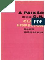 A Paixão Segundo GH - Clarice Lispector