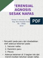 Diferensial Diagnosis Penyakit Sesak Nafas