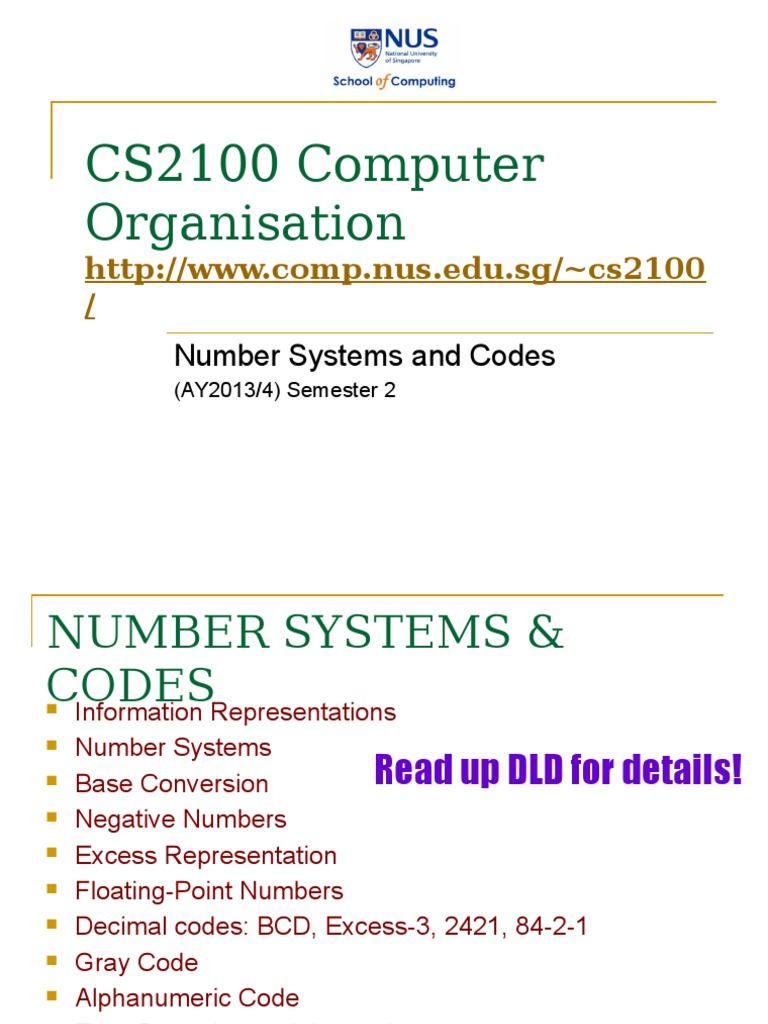 Number Systems And Codes Binary Coded Decimal Error Detection Bcd To Converter Data Correction