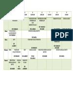 Jadual Semester 7 2015