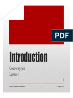 Lecture 1 Introduction, control systems