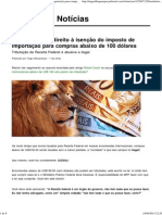Brasileiros tem direito à isenção do imposto de importação para compras abaixo de 100 dólares _ Notícias JusBrasil.pdf