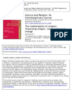 The Mediatisation of Religion Theorising Religion Media And