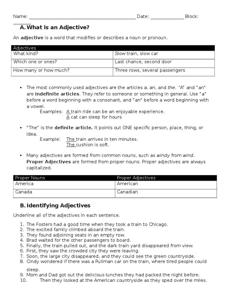 Worksheet Identifying Adjectives adjectives worksheet adjective sculpture