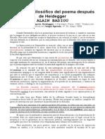 Badiou - 1992 - El Estatuto Filosófico Del Poema Después de Heidegger