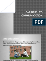 Barriers to Comm