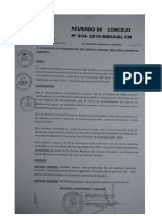 Acuerdo Municipal N° 4