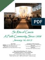 Saint Rita Parish Bulletin 1/18/2015
