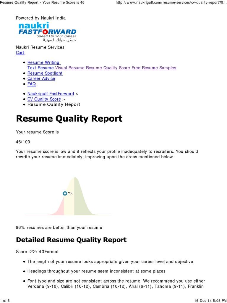 resume writing services naukri