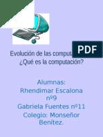 Evolución de Las Computadoras Rhendy y Gabii