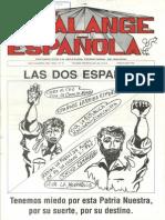 Falange Española nº 10. Octubre 1988.