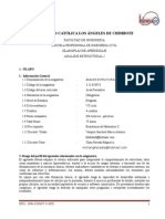 SILABO Analisis Estructural I
