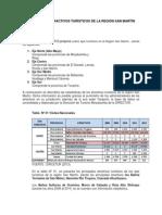 Estadísticas de Los Recursos Turisticos en La Region San Martin 2008-2012