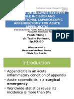 Jounal Appendicitis (Oliv Danu)