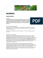 Bioneem Instructions Item 6570