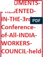 Documents Presented in the 3rd Conference of All India Workers Council Held at Lucknow Up November 2014