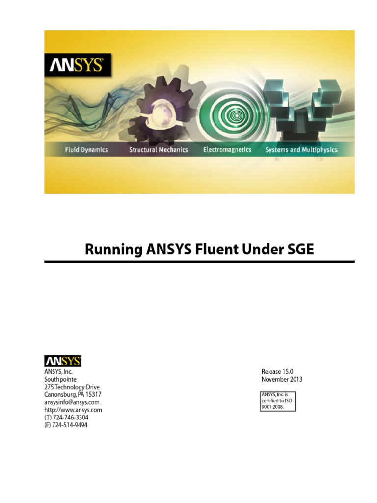 Running ANSYS Fluent Under SGE | Command Line Interface | Trademark
