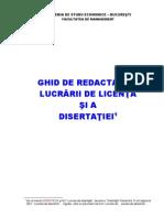 Reguli  Tehnoredactare a Lucrarilor de Licenta Disertatiilor 2015