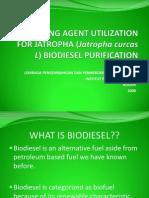 Cleaning Agent Utilization for Jatropha (Jatropha curcas) Biodiesel Purification