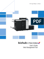 Bizhub c754 c654 Web Management Tool en 1 1 0