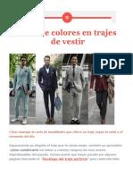 Guía de colores en trajes de vestir