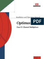 Multiplexador de Dados Manual-Optimux-4E1