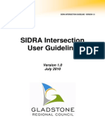 SIDRA Intersection Guideline ADOPTED