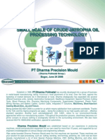 Small Scale of Crude Jatropha Oil Processing Technology
