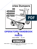 Parts and Operators Handbook 4s4000, 4s5000, 4s6000, 4s7000 Site Dumpers