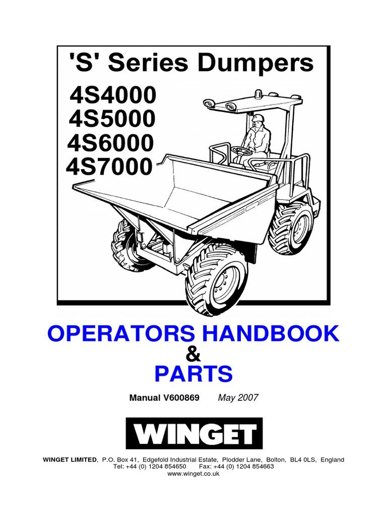 Parts and Operators Handbook 4s4000, 4s5000, 4s6000