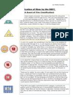 BBFC Classification Categories
