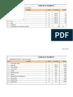 Cronograma Fisico-financeiro e Planilhas