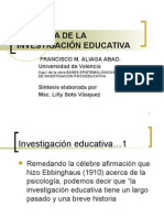 i Historia de La Investigaci n Educativa