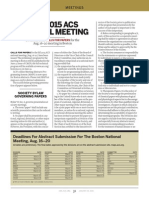 American Chemical Society Call for Papers for the 250th Fall National Meeting in Boston 2015
