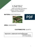 Práctica 1 Operación y Aplicación Dle Oscilsocopio