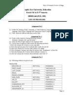 List of Programs DBMS Lab2013