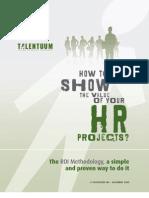 ROI Methodology - White Paper by Talentuum