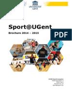 brochure 2014-2015UGent Sport